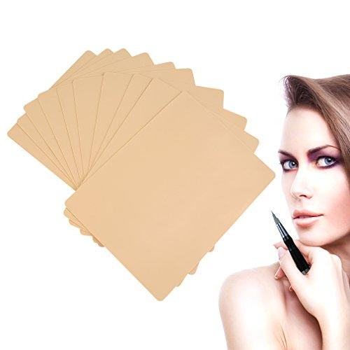 Ambility 10pcs pratique de tatouage peau cosmétique maquillage permanent sourcil pratique peau