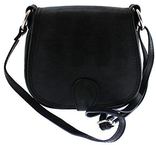 CTM Borsa da Donna Pochette con Tracolla, 19x17x6cm, Vera Pelle 100% Made in Italy