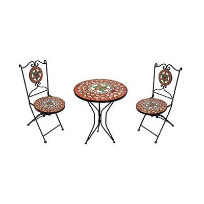 Mosaik-Set Mosaiktisch+ 2 Stühle ~ rot-grün von Mendler