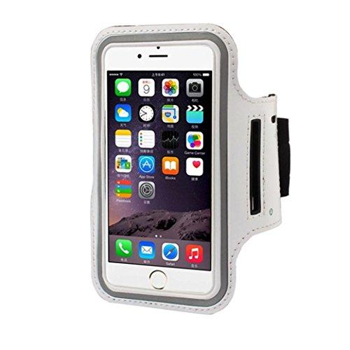Ouneed® Luxux Armband Gymnastik laufender Sport Armbinde Abdeckungs Fall Schutzhülle für iPhone SE 5 5S Case Cover (grün) Weiß