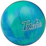 Brunswick TZone Caribbean - Bola de Bolos (13 Libras), Color Azul, Talla 13s LB