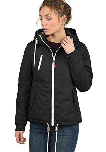 DESIRES Tilda Damen Übergangsjacke Jacke gefüttert mit Kapuze, Größe:XS, Farbe:Black (9000) - 2