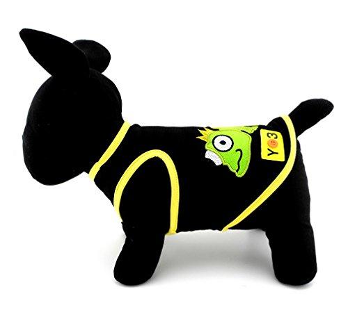 ranphy bestickt Eidechse Patch klein Hund Buchstabe T-Shirt Jungen Mädchen Puppy T-Shirts Hunde Katze Tank Top Vest Ärmellos Shirt Sommer Kleidung