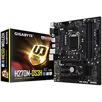 Gigabyte GA-H270M-DS3H Scheda Madre, Interfaccia mATX, Socket Intel 1151, Nero