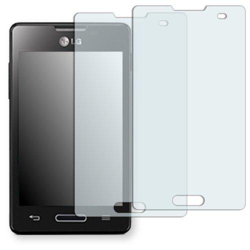2 x Golebo Displayschutzfolie für LG E440 Optimus L4 II Schutzfolie Folie