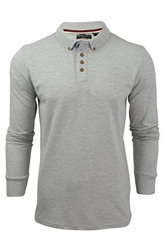 "Brave Soul - Herren Polo T-Shirt ""Lincoln"" Pique Lange Ärmel Sport Marl"