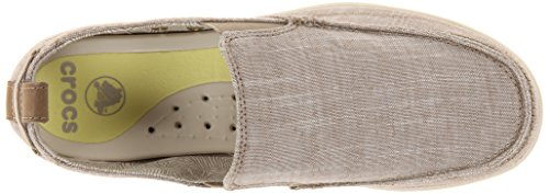 Crocs - Herren Walu Chambray-Beleg auf Schuhen Khaki/Stucco
