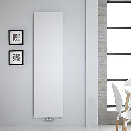 Hudson Reed Heizkörper Rubi - Vertikale Design-Heizwand aus Stahl in Weiß - 1800 x 500 mm