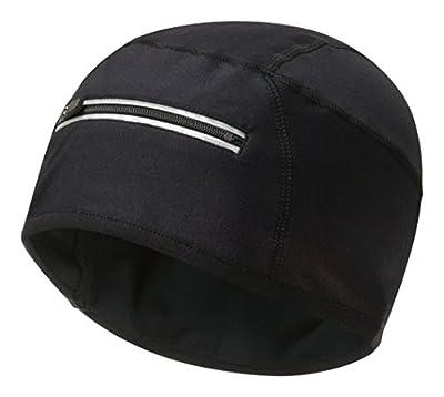 Runderwear Laufen und Radfahren Beanie mit Reflektierende Pocket schwarz schwarz