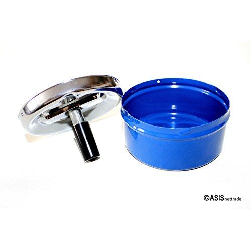 Aschenbecher Ascher aus Metall Blech – 30 Stück – blau – 9,5 cm Durchmesser - 3