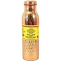 IndianArtVilla Handmade Best Quality Joint free Leak Proof Pure Copper Hammered water Bottle - 800 ML Travel Bottle Good Health Benefits Yoga, Ayurveda by Indian Art Villa