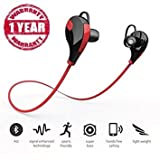 You Gadget QY7 Bluetooth 4.1 Sports Headphones for Android/iOS Devices (Red)