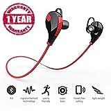 #8: You Gadget panasonic p71 compatible jogger QY7 Bluetooth 4.1 Portable Headphone Headset Earphone Mini Lightweight Wireless Sports/Jogger/Running (RED colour)