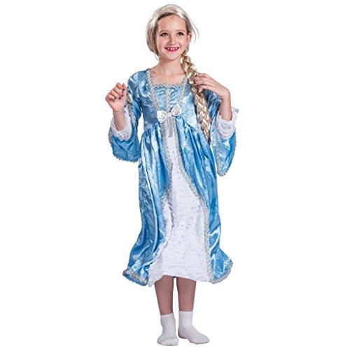 EraSpooky Kinder Langhaar Prinzessin Kostüm hübsches Kleid(Blau, ()