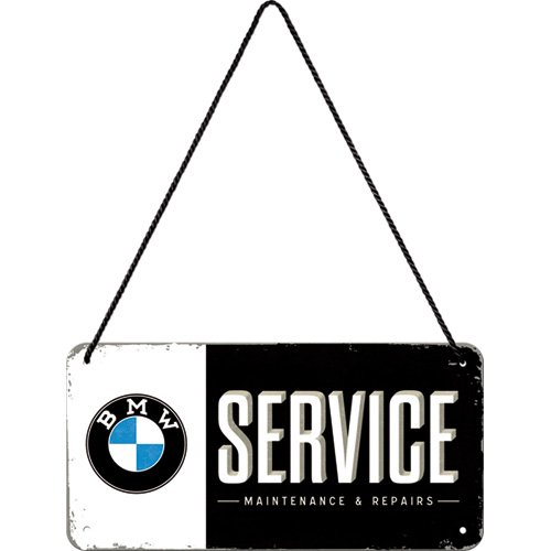 Nostalgic-Art 28001 BMW - Service, Hängeschild (Der Fahrer Plakat)