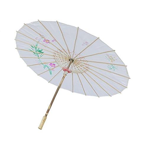 Parasols Blanc - Femme Ombrelle Chinoise Fait à La Main