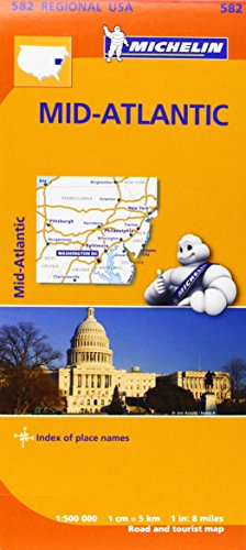 Midatlantic, Allegheny Highlands Regional Map 582 (Michelin Regional Maps) par Michelin