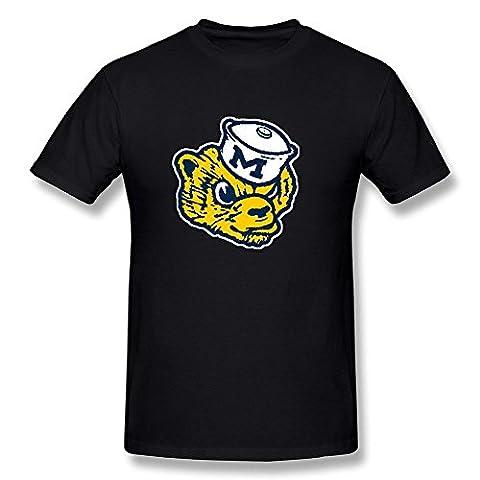 Breely Herren's Michigan Wolverines Mascot T Shirt XX-Large