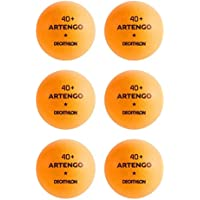 Artengo 40+ pelotas de tenis de mesa–paquete de 6, naranja, 40+