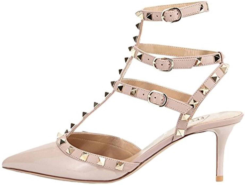Sandalias de Las Mujeres del Bloque del Talón Sandalias de Confort de Verano Open Toe Hebilla Zapatos al Aire Libre para Las Señoras Mamá 35-42 40 EU|Negro
