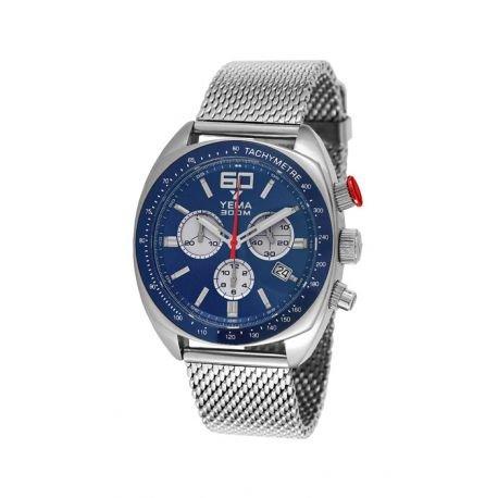 Reloj yema meangraf hombre soleillé azul y contadores Silver–ymhf1450–Idea regalo Noel–en Promo