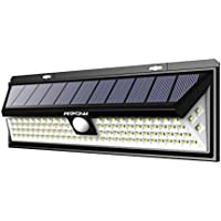 Mpow 102 LED Solar Lights Motion Sensor, Super Bright Wall Lights, 3 Optional Lighting Modes, Large Solar Panel, 120° Sensing Angle, Weatherproof, Great Outdoor Lights for Garden, Driveway, Pathway