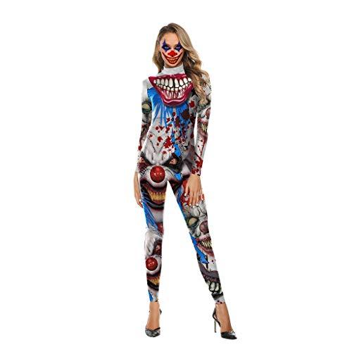 Scary Kostüm Clown Damen - Wusfeng Teufel Clown Halloween Kostüme Scary Kostüm Erwachsene Damen (Color : Multi-colored, Size : L)