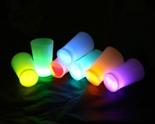 6 vasos luminosos para fiestas Starlight Discoteca