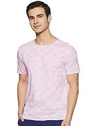 ABOF Men's Floral Slim Fit T-Shirt