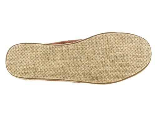 Toms Mens Alpargata Canvas Ankle-High Flat Shoe Rust Linen