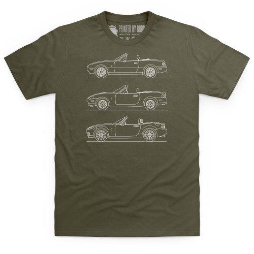 MX-5 Generations T-Shirt, Herren Olivgrn