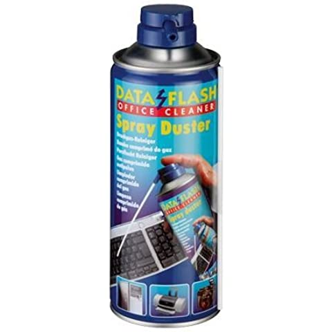 Impresión Gas Spray de aire comprimido lata, Sprayduster, Data Flash DF 1270, para oficina dispositivos, DF1270, presión de aire comprimido, Gas, 400ml