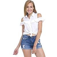 LC WAIKIKI Kadın Omuzu Açık Fırfır Detaylı Gömlek