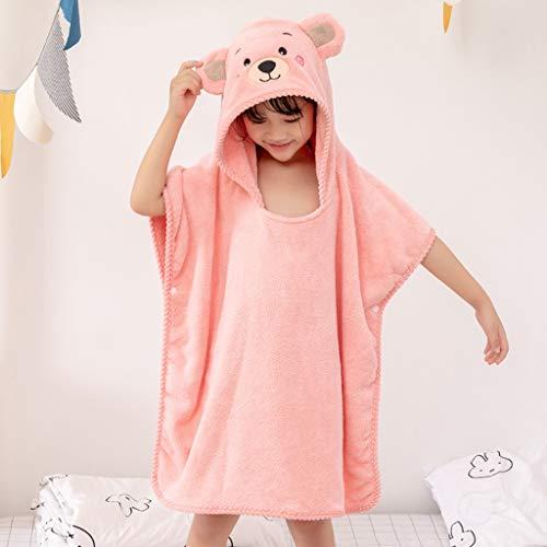 Baby Handtuch Waschlappen Tier Kapuze Ultra Soft und Extra Large, Baumwolle Bademantel for Groß Infant oder Neugeborene Dusche Geschenk for Jungen oder Mädchen (0-6 Jahre) (Color : Pink)