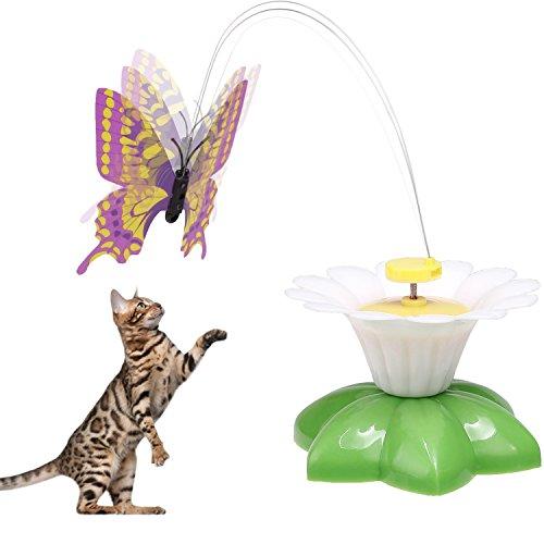 Befied Katzenspielzeug Funny Butterfly fliegender schmetterling elektrisch Interaktives Spielzeug lustiges Spielzeug für Katzen
