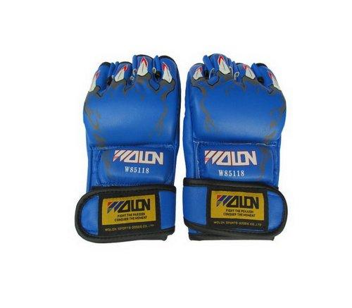 Herren Boxhandschuhe Blau Klaue MMA Grappling Handschuhe