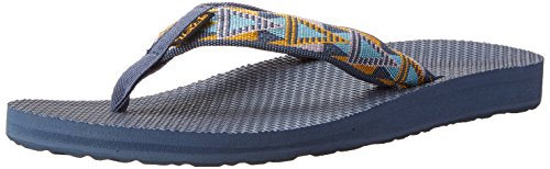 Teva Women's Classic Flip Flop, Mosaic Vintage Indigo, 5 M US