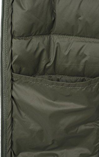 Urban Classics Herren Daunenjacke Basic Down Jacket, gefütterte Steppjacke für Herbst und Winter, praktisch verstaubar in mitgelieferter Tasche darkolive