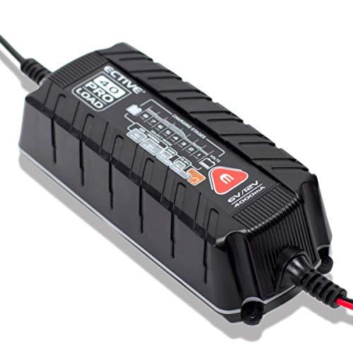 ECTIVE 4A Batterieladegerät 6V 12V 8 Stufen | Vollautomatisches IuoU Ladegerät für KFZ Auto und Motorrad Batterie