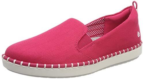 Clarks Step Glow Slip, Bailarinas para Mujer, Rojo Rose-, 42 EU