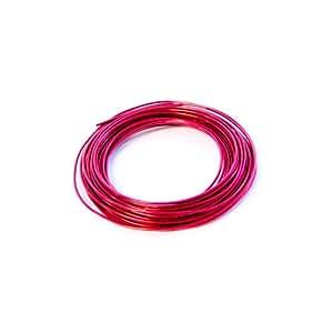 Fil aluminium rouge largeur 2mm 100gr