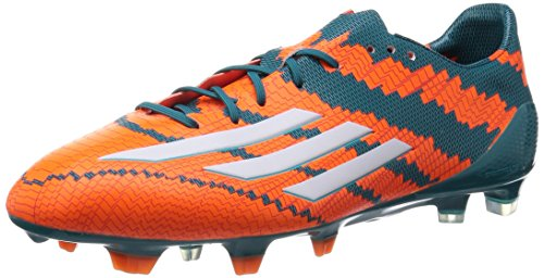 adidas Herren Messi Mirosar10 10.1 FG Fußballschuhe, Power Teal F14/Ftwr White/Solar Orange), 44 EU -