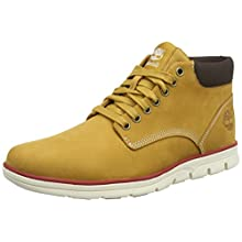 Timberland Men's Bradstreet Leather Sensorflex Chukka Sneakers, Yellow (Wheat Nubuck), 8.5 UK 43 EU