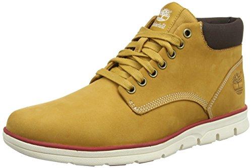 Timberland Chukka Leather, Scarpe a Collo Alto Uomo, Giallo (Wheat), 45 EU