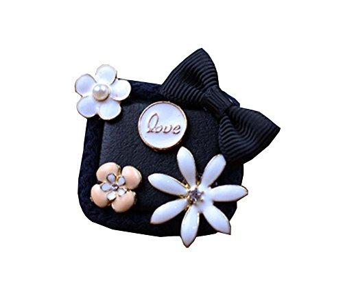 Antike-Art-Blumen-Kidsl Brosche schönen Pullover Hut Corsage Pin Clips Schwarz (Antike Pullover)