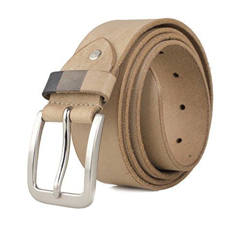 Zerimar Cinturón Piel de Hombre   4 cm Ancho   Cinturón Hombre Cuero   Cinturón Hombre Hebilla   Cinturón Piel