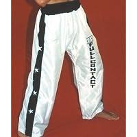 Pantalón y Chaqueta de Full Contact Raso (Blanco /detalle negro) 3 tallas … (M-1,70)