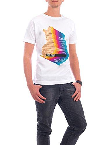 """Design T-Shirt Männer Continental Cotton """"Finland"""" - stylisches Shirt Typografie Städte Kartografie Reise von Sasha Lend Weiß"""