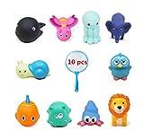 Happyit 10pz bagnetto giocattoli Cartoon Animal nuoto acqua suono giocattolo da bagno giocattoli per vasca da bagno per bambini Fun Baby Shower Time