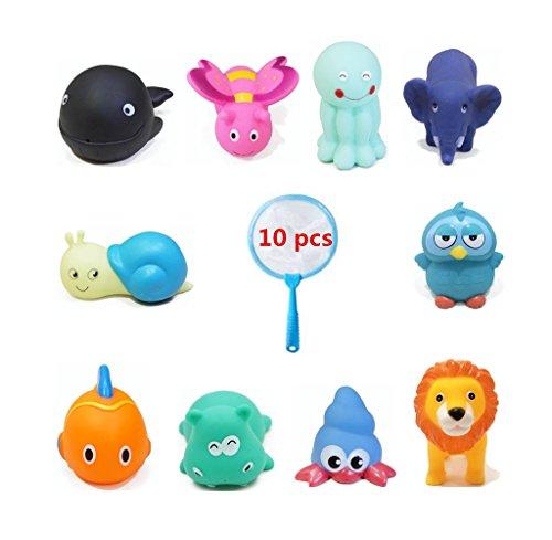 Badespielzeug Cartoon Tier Schwimmen Wasser Sounding Spielzeug Bad Spielzeug für Kinder Jungen Mädchen Badewanne Spaß Baby Dusche Zeit (Teddybär-baby-dusche)